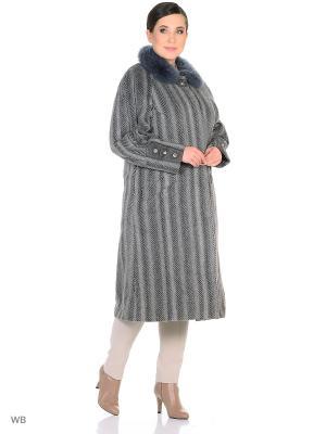 Пальто Castlelady. Цвет: серый