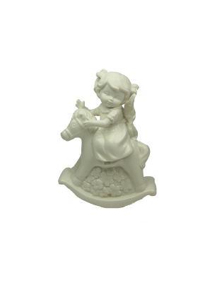 Фигурка декоративная Ангел Русские подарки. Цвет: белый
