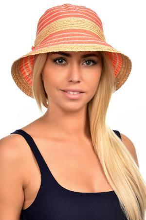 Шляпа DelMare. Цвет: солома, коралловый