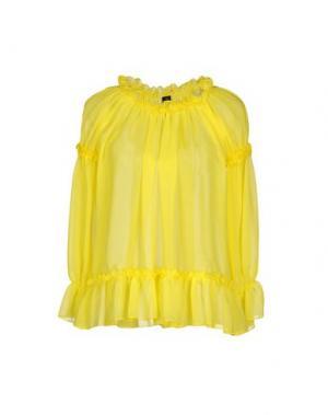 Блузка NORA BARTH. Цвет: желтый