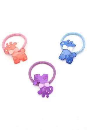 Набор резинок NICE GIRL. Цвет: голубой, розовый, фиолетовый