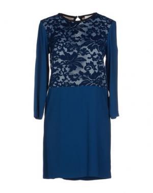 Короткое платье SUOLI. Цвет: грифельно-синий