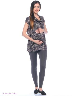 Леггинсы с начесиком для беременных 40 недель. Цвет: серый