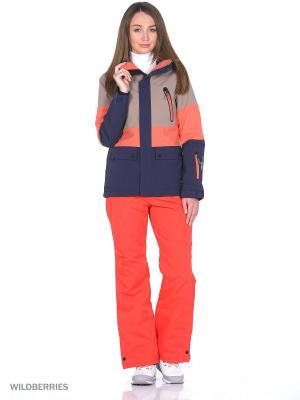 Куртка O'Neill. Цвет: бежевый, оранжевый, синий