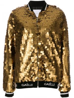 Куртка-бомбер металлик Gaelle Bonheur. Цвет: металлический