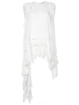 Асимметричная блузка Alexander McQueen. Цвет: белый