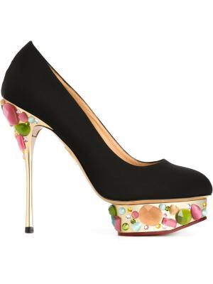 Декорированные туфли Dolly Charlotte Olympia. Цвет: чёрный