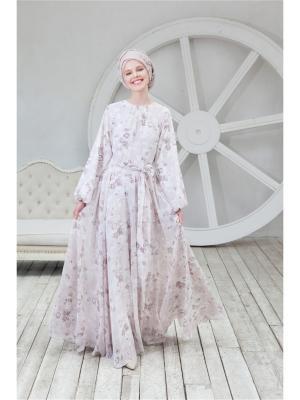 Платье шифоновое с поясом Bella kareema