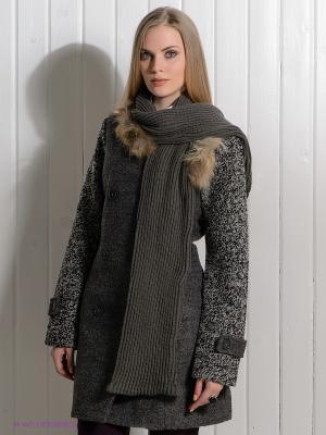 Пальто Rene Derhy. Цвет: серый