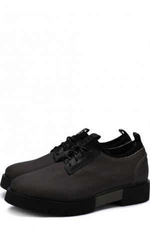 Текстильные ботинки на шнуровке O.X.S.. Цвет: хаки