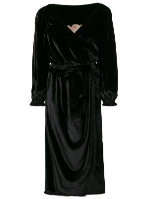 Платье с драпировкой Braima Maria Lucia Hohan. Цвет: чёрный