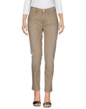 Джинсовые брюки HAIKURE. Цвет: хаки