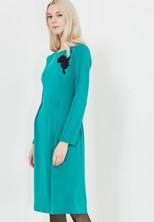 Платье Self Made. Цвет: зеленый