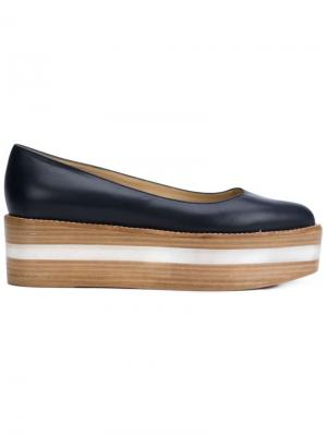 Туфли на платформе Lalo Gabriela Hearst. Цвет: коричневый