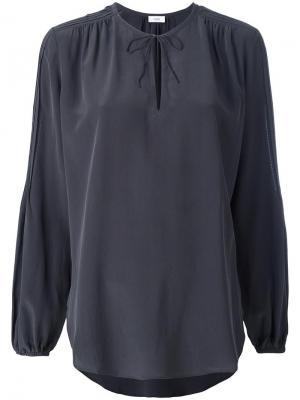 Блузка с вырезом на завязках Closed. Цвет: серый