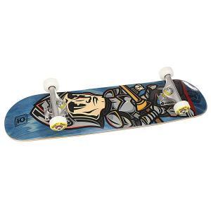 Скейтборд в сборе детский  George Blue 28 x 7 (17.8 см) Юнион. Цвет: синий,мультиколор