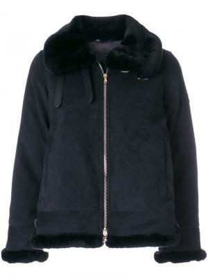 Куртка на молнии с меховой отделкой Tatras. Цвет: чёрный