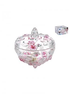 Ваза с крышкой Н-160 роза/сатин розовая Коралл. Цвет: бледно-розовый
