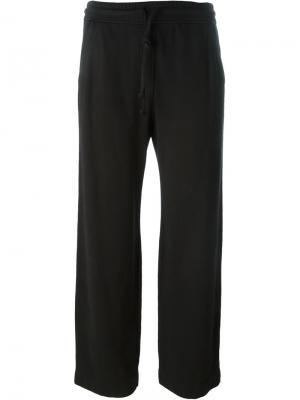 Укороченные спортивные брюки Raquel Allegra. Цвет: чёрный