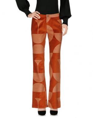 Повседневные брюки CUSTO BARCELONA. Цвет: ржаво-коричневый