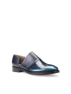 Ботинки GEOX. Цвет: темно-синий, бирюзовый
