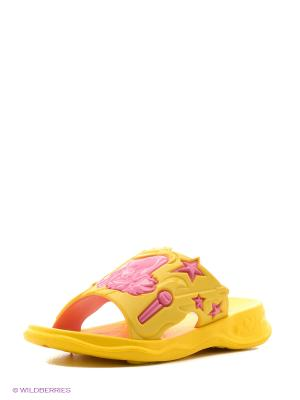 Шлепанцы Дюна. Цвет: желтый, розовый