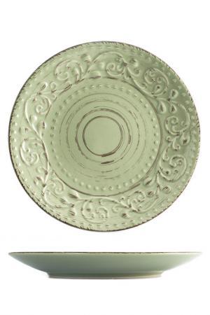 Тарелки десертные 21 см 6 шт. H&H. Цвет: зеленый