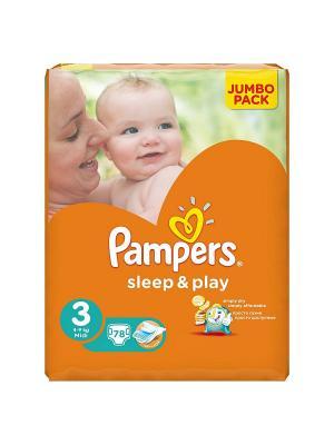 Подгузники Sleep & Play 5-9 кг, 3 размер, 78 шт. Pampers. Цвет: оранжевый