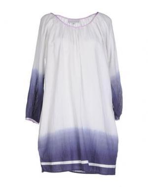 Короткое платье CHRISTOPHE SAUVAT. Цвет: белый