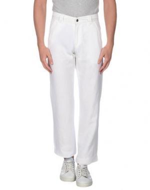 Повседневные брюки CORTIGIANI. Цвет: белый