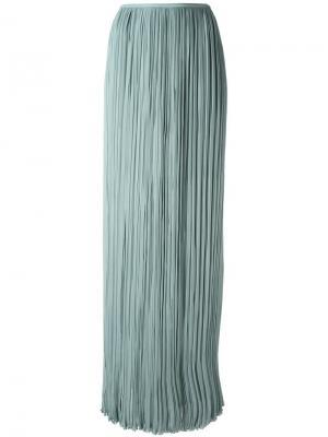 Плиссированная юбка макси Lanvin. Цвет: синий