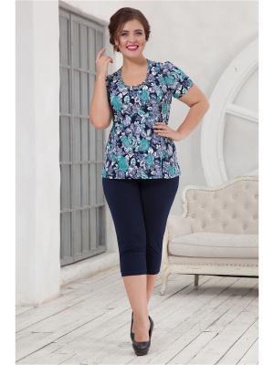 Комплект одежды CLEO. Цвет: темно-синий,зеленый