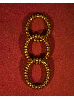 Резинка пружинка Bizon. Цвет: бронзовый