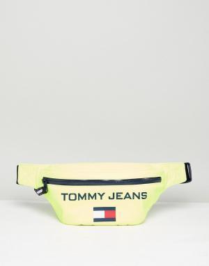 Tommy Jeans Сумка-кошелек на пояс в стиле 90-х Capsule 5.0. Цвет: желтый