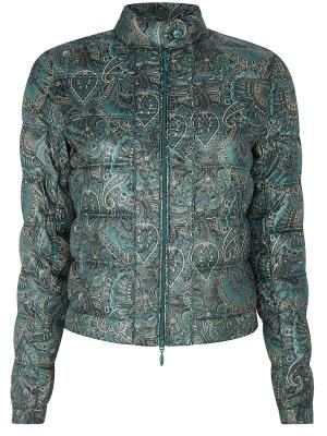 Куртка Oodji. Цвет: зеленый, бежевый