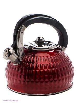 Чайник, 3л MAYER-BOCH. Цвет: бордовый