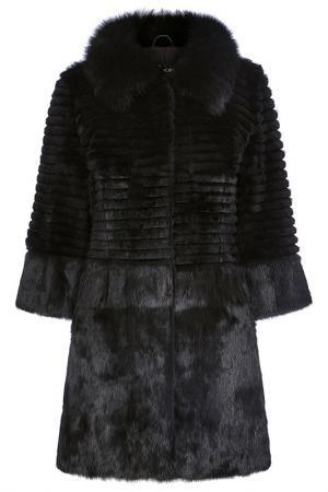 Шуба Virtuale Fur Collection. Цвет: черный