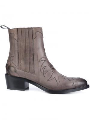Ботинки в стиле вестерн Sartore. Цвет: серый