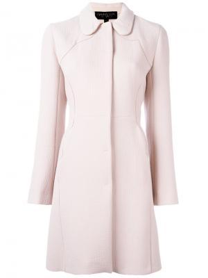 Фактурное пальто Giambattista Valli. Цвет: розовый и фиолетовый