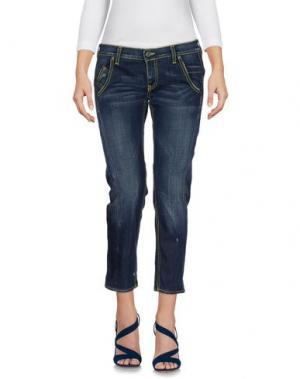 Джинсовые брюки-капри DONDUP STANDART. Цвет: синий