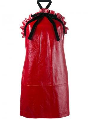 Мини-платье с вырезом-халтер Philosophy Di Lorenzo Serafini. Цвет: красный