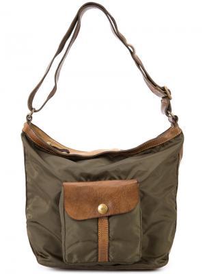 Сумка на плечо с передним карманом Campomaggi. Цвет: коричневый