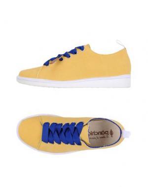 Низкие кеды и кроссовки PÀNCHIC. Цвет: желтый