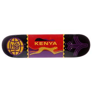 Дека для скейтборда  S5 Travel Kenya 32.5 x 8.5 (21.6 см) Habitat. Цвет: черный,фиолетовый,оранжевый,желтый