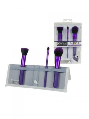 Royal&langnickel MODA  COMPLEXION PERFECTION SET. Набор кистей для макияжа Безупречный цвет лица. Цвет: фиолетовый