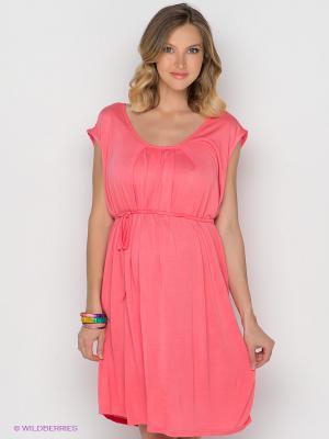 Платье Mama Licious. Цвет: коралловый