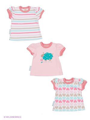 Комплект детский: футболка 3 шт. Lucky Child. Цвет: розовый, зеленый