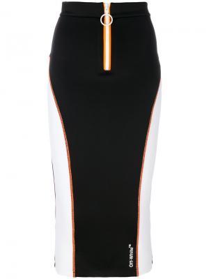 Юбка-карандаш в спортивном стиле Off-White. Цвет: чёрный