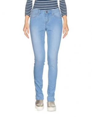 Джинсовые брюки-капри SUN 68. Цвет: синий