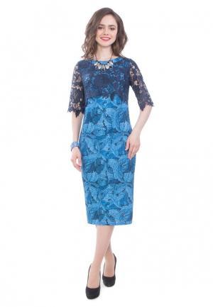 Платье Wisell. Цвет: голубой
